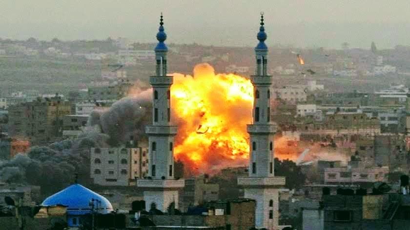 esplosione con minareti